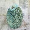 Керамическая ваза Розалия серо-зеленая 35 см