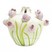 Ваза керамическая декоративная Тюльпаны 26 см