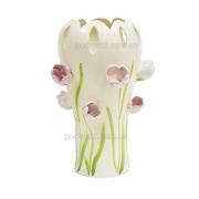 Ваза керамическая декоративная Тюльпаны 38 см
