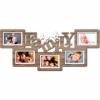 Деревянная фоторамка коллаж Family на 5 фото