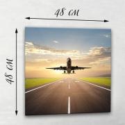 Фотокартина на натуральном холсте Самолет