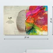 Настенные часы-картина на холсте Мозг