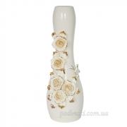 Ваза керамическая напольная Барокко. Розы 48 см
