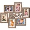 Деревянная фоторамка коллаж Baby на 6 фото