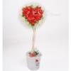 Топиарий Сердце из красных роз Big