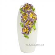 Ваза керамическая декоративная Ирисы 38 см