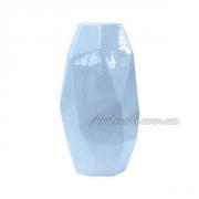 Ваза керамическая голубая Полигональная 2500-19