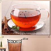 Часы на натуральном холсте настенные Мятный чай