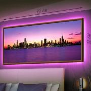 Картина-светильник LED в рамке Вода. Небо. Город