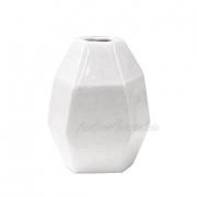 Ваза керамическая белая Полигональная 2500-12
