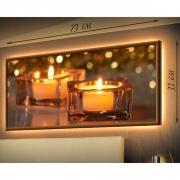 Картина-светильник в рамке Свеча горела на столе