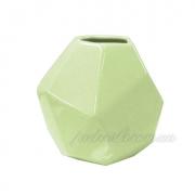Ваза керамическая зеленая Полигональная 2500-95