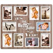 Фоторамка-коллаж Best time of the year 10 фото (дуб бордо)