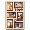 Деревянная фоторамка-коллаж Love на 6 фото дуб молочный