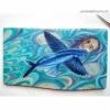 Картина на дубовой ламели Летящая рыба