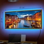 Картина-светильник LED в рамке Венеция-1