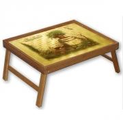 Бамбуковый столик раскладной для завтрака в постель