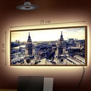 Картина-светильник LED в рамке Над городом