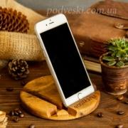 Деревянная подставка для телефона или планшета Круг
