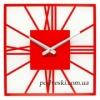 Годинник настінний металевий 35х35 см Glozis New York червоний