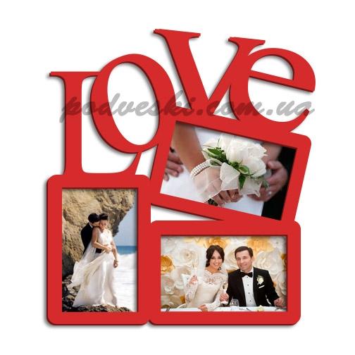 love любовь фоторамка коллаж подарок свадьба декор
