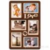 Деревянная фоторамка-коллаж Love на 6 фото венге