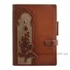 Ежедневник кожаный А5 Privilege Розы коричневый