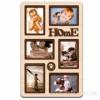 Деревянная фоторамка-коллаж Home на 6 фото дуб молочный