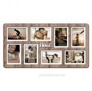 Рамка на 8 фото с надписью Home дуб бордо