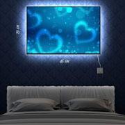 Картина-светильник Голубые сердца