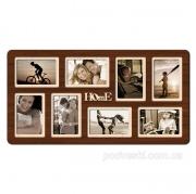 Рамка на 8 фото с надписью Home венге