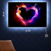 Картина-светильник Сердце