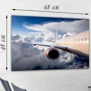 Фотокартина на натуральном холсте Крыло самолета