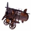 Подставка для вина Самолет деревянный