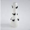 Ваза напольная Бабочки белая с черным 48 см