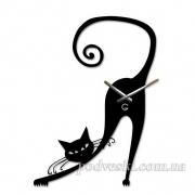 Настенные часы акриловые Кошка Грация