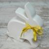 Статуэтка керамическая Кролик белый/серый 19 см