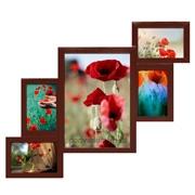 Фоторамка-мультирамка Комбо красное дерево