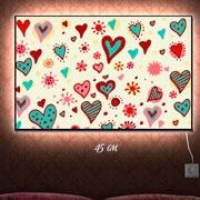 Картина-светильник Сердечки