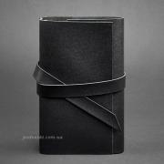 Блокнот кожаный, софт-бук 1.0 Графит