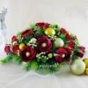 Новогодний букет из конфет Настольный декор