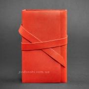 Блокнот кожаный, софт-бук 1.0 Коралл