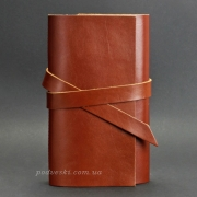Блокнот кожаный, софт-бук 1.0 Коньяк