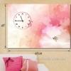Настенные часы-картина Акварельная нежность 48х68 см