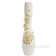 Ваза напольная керамическая Хризантема золото 75 см