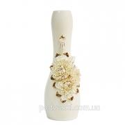 Ваза напольная керамическая Хризантема золото 48 см