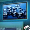 Картина с диодной подсветкой Кубики льда 33х48 см