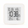Электронный термометр-гигрометр с часами T-19 розовый