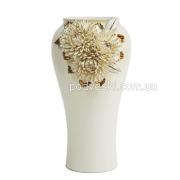 Ваза керамическая Хризантема золото 38 см