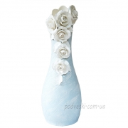 Ваза керамическая напольная Фанни бирюза 48 см